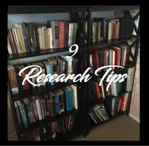 Azlyn Richards research tips,, researching novels