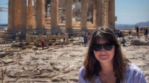 historical fiction author, Greek vacation